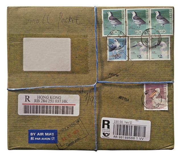 balík se známkami